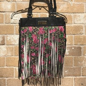 Betsey Johnson beautiful fringed purse